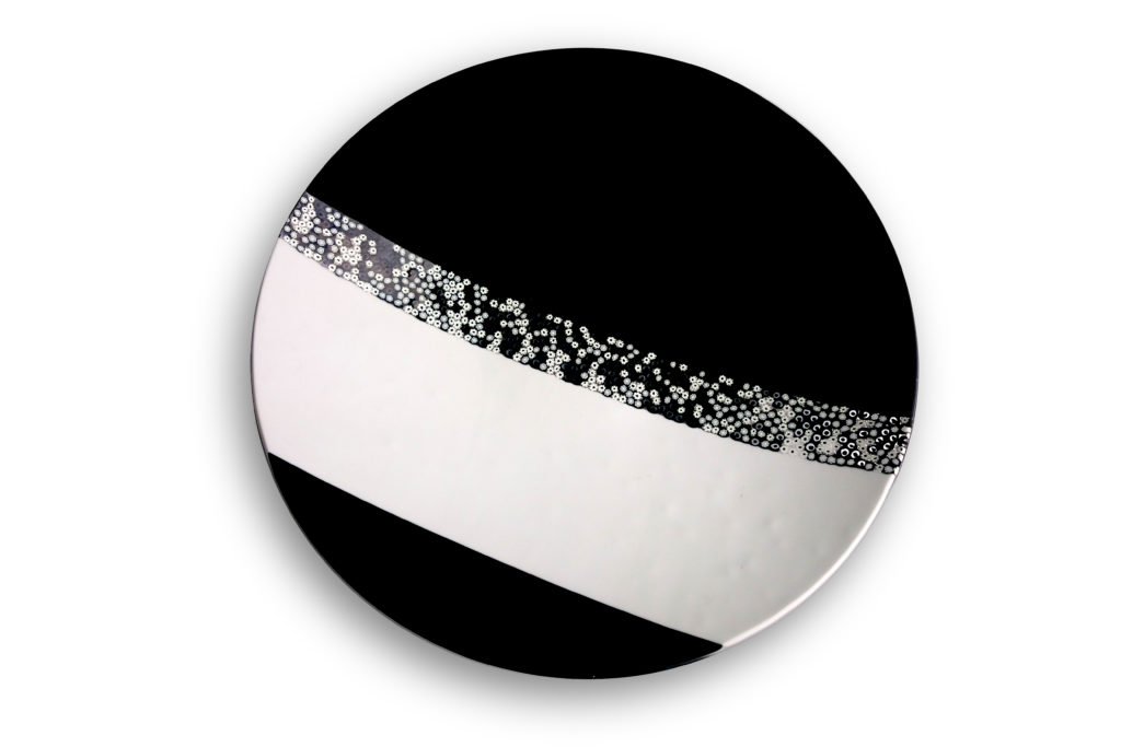 Night & Day glass plate