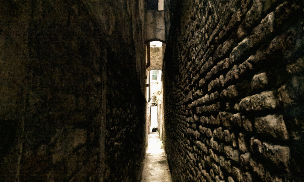 The narrowest street in Venice