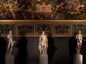 Three statues – Adam Eve Mars