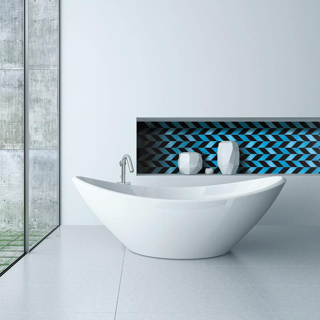 Raffinate piastrelle in vetro di Murano di altissima qualità