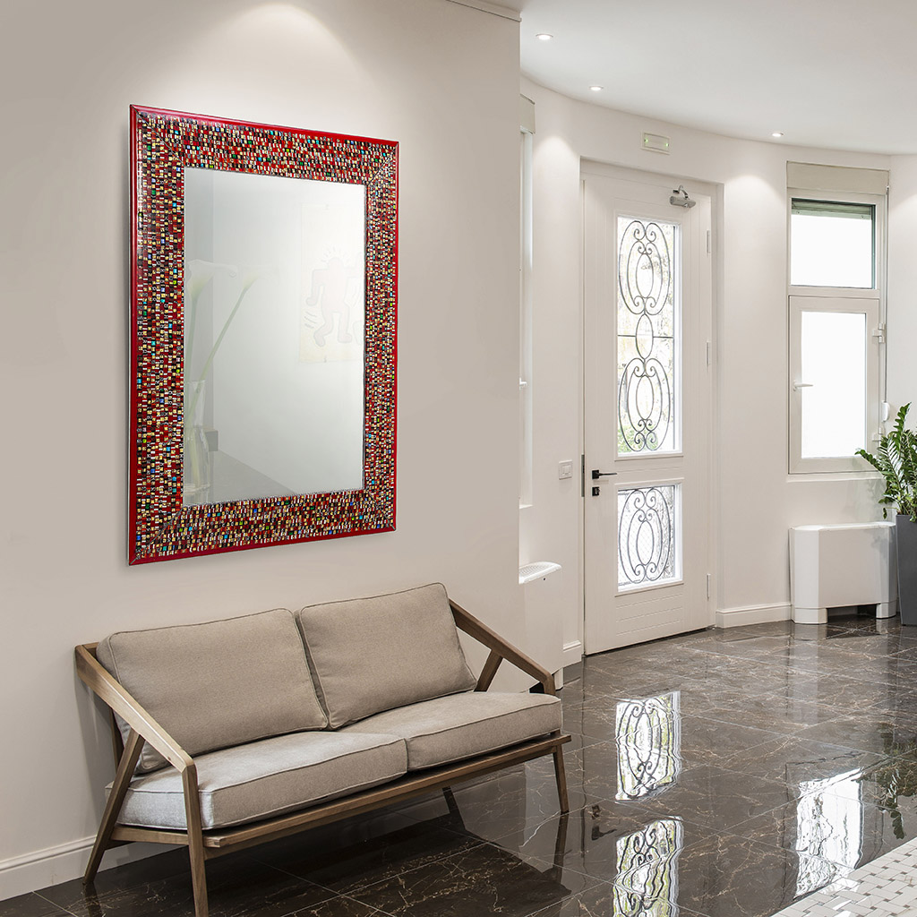 Refined Murano glass mirror for homes and offices