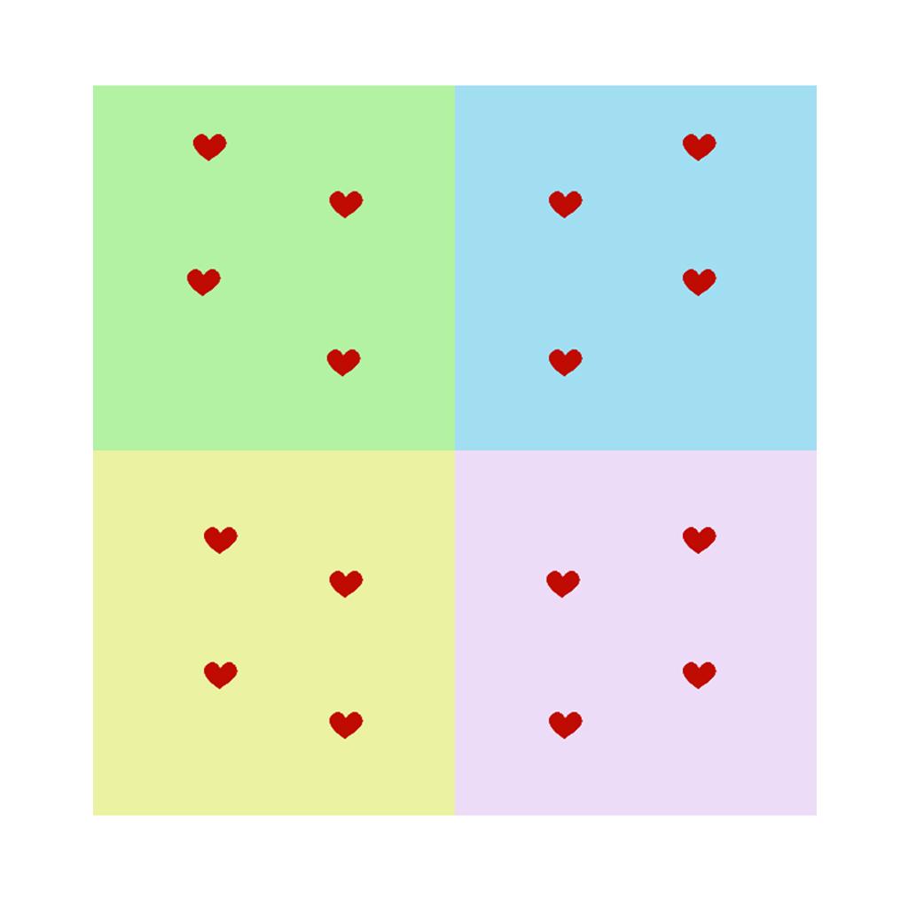 love hearts glass windows
